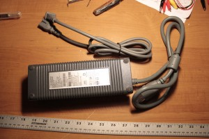 Here's what showed up from Amazon.  A knock-off XBOX 360 power supply; 203watt.  Capable of outputting 16.5amps at 12volts.